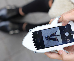 case, iphone, and shark image