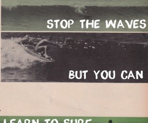 waves, surf, and quotes image