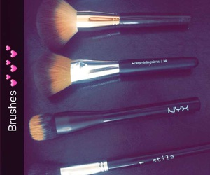 NYX, makeup brushes, and morphie image