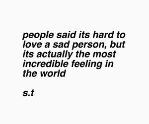 sad, love, and s.t image