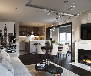 apartment, home, and interior design image