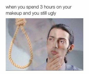 funny, makeup, and ugly image
