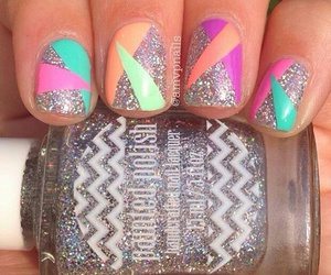 nails, colors, and glitter image