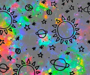 wallpaper, planet, and sun image