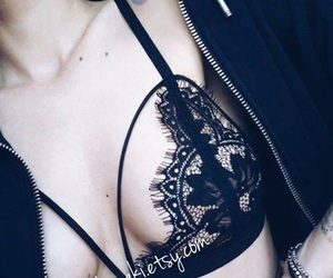 accessory, essentials, and lace bralette image