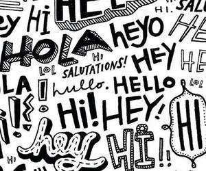 hello, hi, and 🙋 image