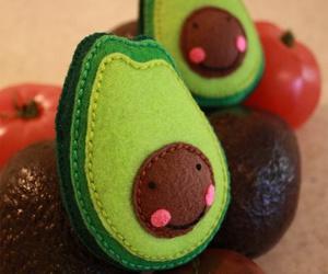 avocado, felt, and kawaii image