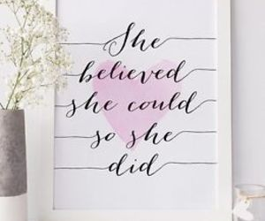 believe, girl, and goal image