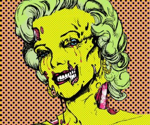 Marilyn Monroe and zombie image