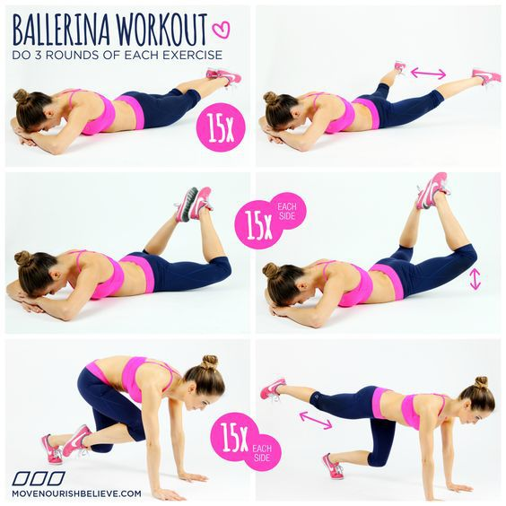 ballerina, motivation, and workout image