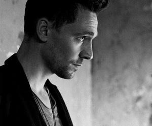 tom hiddleston, loki, and black and white image