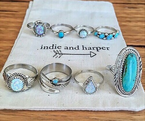 rings, blue, and indie image