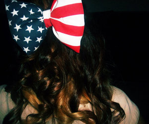 america, bows, and hair image