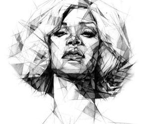 rihanna, art, and draw image