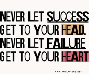 quote, success, and failure image