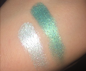 eyeshadow, shimmer, and silver image