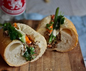 banh mi, pickle, and pine nut image