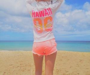 girl, beach, and hawaii image