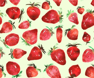 fruit, pattern, and red image