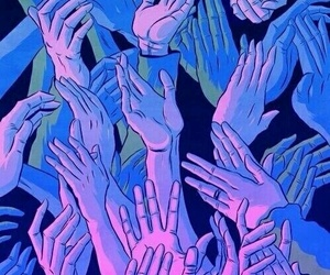 hands, purple, and wallpaper image