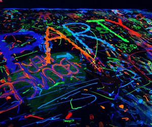 party, neon, and color image