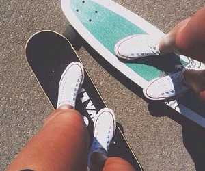 converse, summer, and skate image