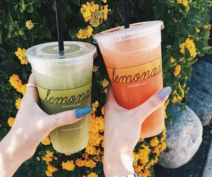 drink, lemonade, and summer image