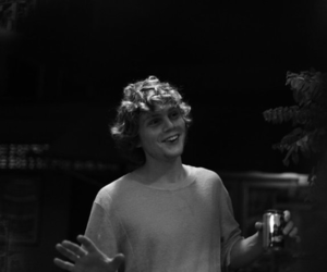evan peters, black and white, and ahs image