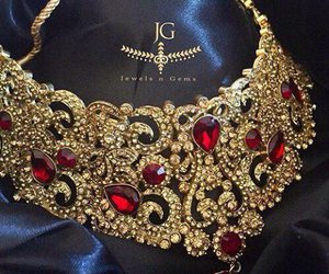 gold, luxury, and necklace image