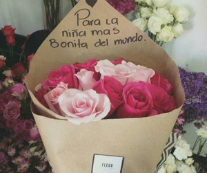 pink, flores, and rosa image