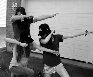 bff, black and white, and dab image