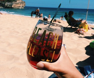 beach, photography, and drinks image