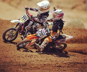 competition, kids, and motocross image