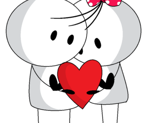 bow, heart, and love image