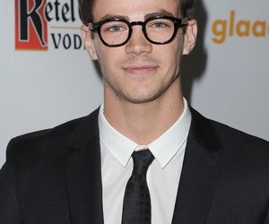 grant gustin, celebrity, and glasses image