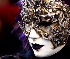 carnival, costume, and mask image