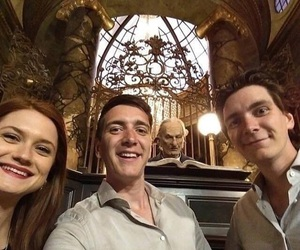 bonnie wright, james phelps, and oliver phelps image