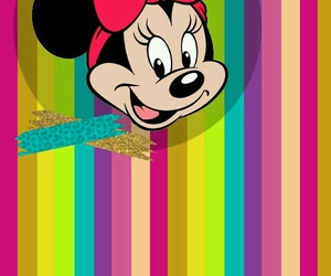 colorful, minnie mouse, and wallpaper image