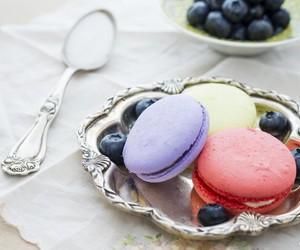sweet, macarons, and pastel image