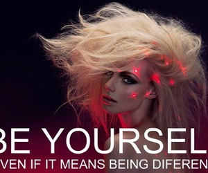 be yourself, quotes, and being different image