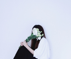 cover, flowers, and girl image