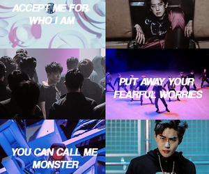 exo, monster, and wallpaper image