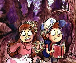 gravity falls, mabel, and dipper image