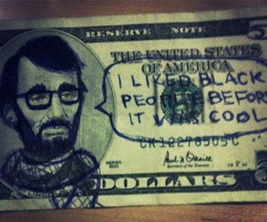 hipster, dollar, and funny image