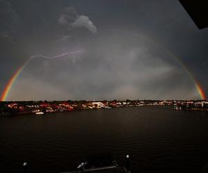 rainbow, sky, and city image