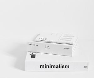white, book, and minimalism image