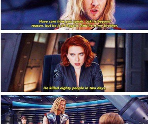 funny, thor, and Avengers image