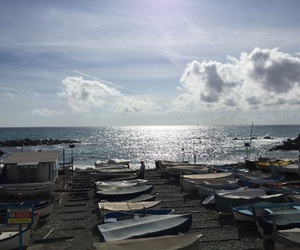 boats, italy, and sun image