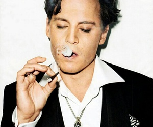 johnny depp, smoke, and sexy image