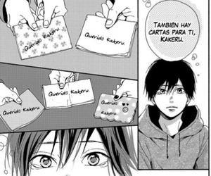 letters, manga, and orange image